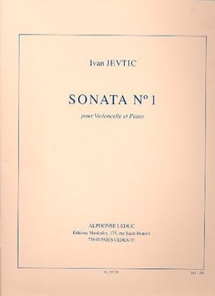 Sonata N°1 Ivan Jevtic Partition Violoncelle - laflutedepan