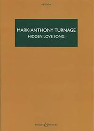 Hidden Love Song Mark-Anthony Turnage Partition laflutedepan
