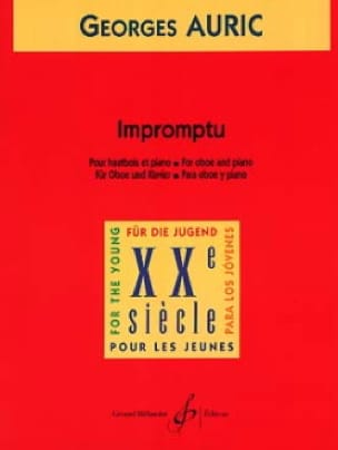 Impromptu - Georges Auric - Partition - Hautbois - laflutedepan.com