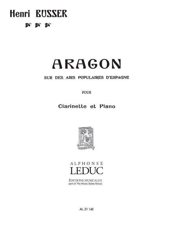 Aragon op. 91 - Henri Büsser - Partition - laflutedepan.com