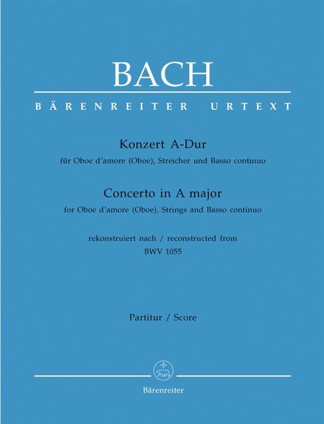 Konzert A-Dur nach BWV 1055 für Oboe d'amore Oboe - Partitur - laflutedepan.com