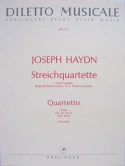 Streichquartett A-Dur op. 20 n° 6 -Stimmen HAYDN laflutedepan
