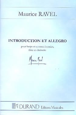 Introduction et Allegro - Conducteur RAVEL Partition laflutedepan