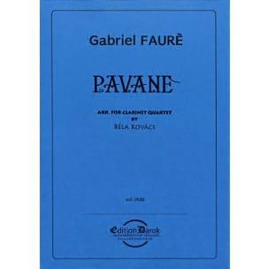 Pavane - 4 Clarinettes - FAURÉ - Partition - laflutedepan.com