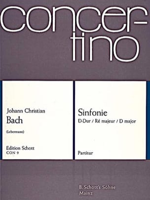 Sinfonie D-Dur 1777 -Partitur Johann Christian Bach laflutedepan