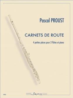 Carnets de Route Pascal Proust Partition Trios - laflutedepan