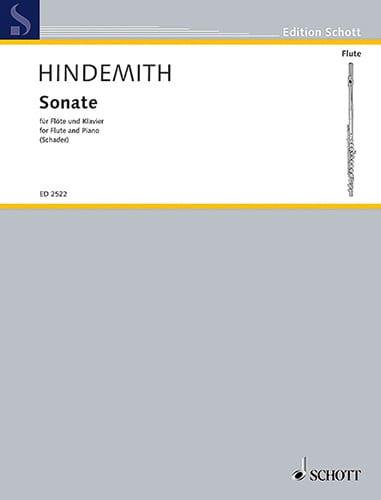 Sonate pour Flûte 1936 - HINDEMITH - Partition - laflutedepan.com