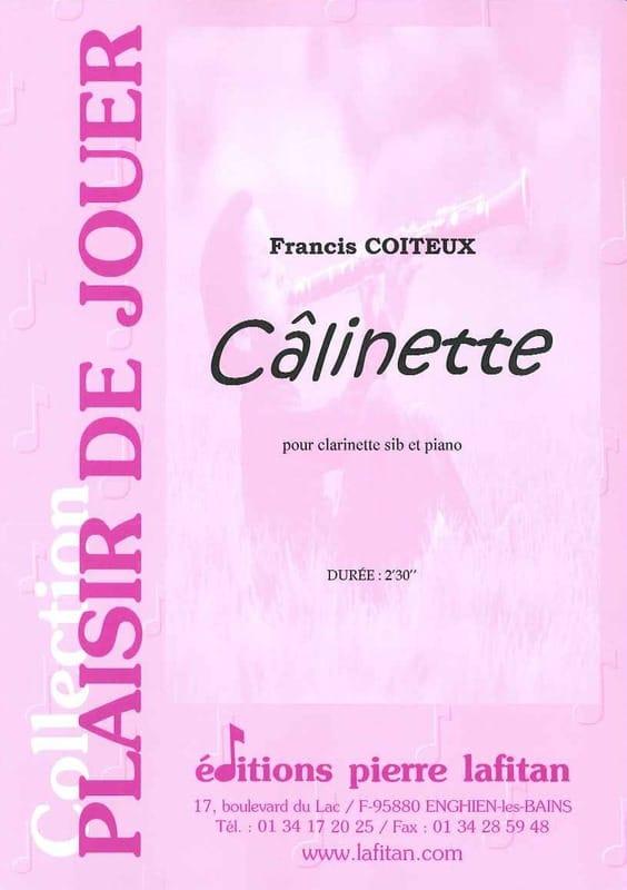Câlinette - Francis Coiteux - Partition - laflutedepan.com