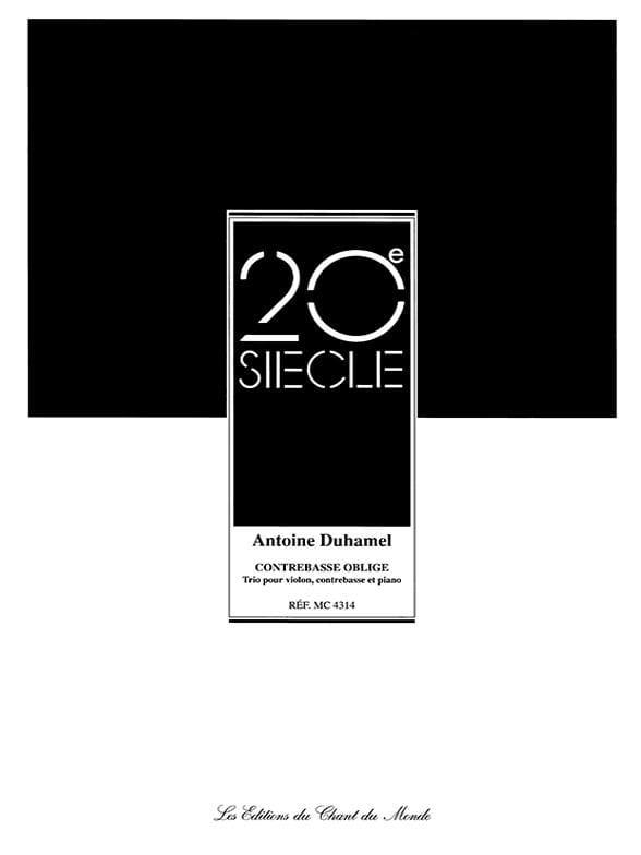 Contrebasse Oblige - Antoine Duhamel - Partition - laflutedepan.com