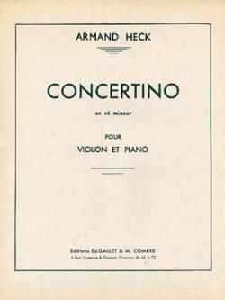 Concertino en ré mineur J. Armand Heck Partition Violon - laflutedepan