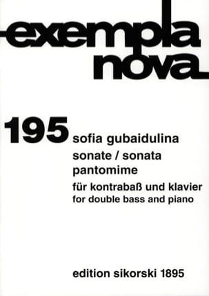 Sonate / Pantomime Sofia Gubaidulina Partition laflutedepan
