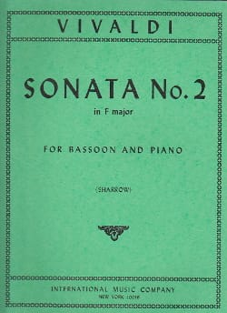 Sonate n° 2 in F major RV 41 VIVALDI Partition Basson - laflutedepan