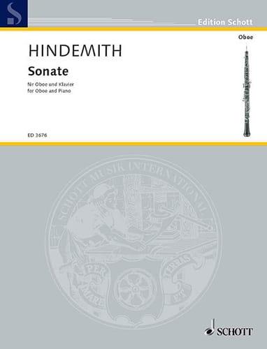 Sonate 1938 - HINDEMITH - Partition - Hautbois - laflutedepan.com