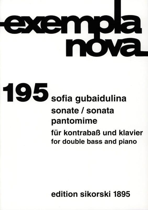 Sonate / Pantomime - Sofia Gubaidulina - Partition - laflutedepan.com