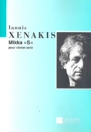 Mikka S - XENAKIS - Partition - Violon - laflutedepan.com
