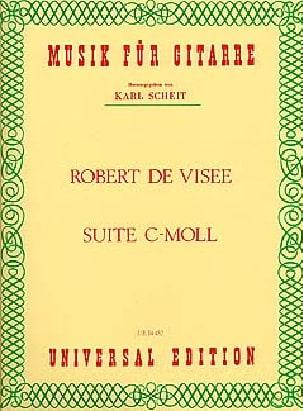 Suite c-moll Robert de Visée Partition Guitare - laflutedepan