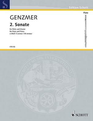 Sonate Nr. 2 in e - Flöte Klavier Harald Genzmer laflutedepan