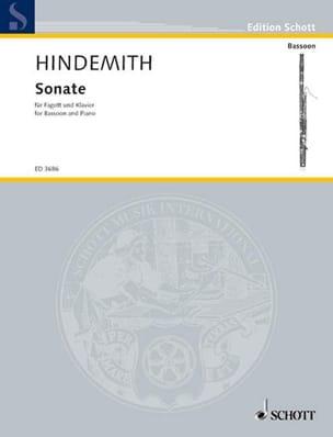 Sonate -Basson et Piano HINDEMITH Partition Basson - laflutedepan