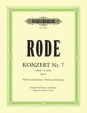 Konzert n° 7 a-Moll op. 9 Pierre Rode Partition Violon - laflutedepan