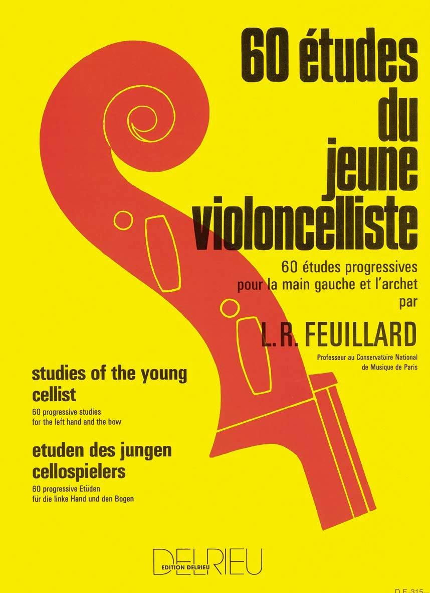 60 Etudes du jeune Violoncelliste - FEUILLARD - laflutedepan.com