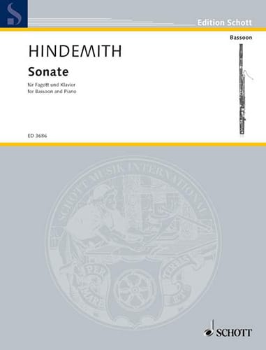Sonate -Basson et Piano - HINDEMITH - Partition - laflutedepan.com