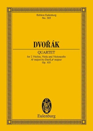 Streich-Quartett As-Dur, Op. 105 DVORAK Partition laflutedepan