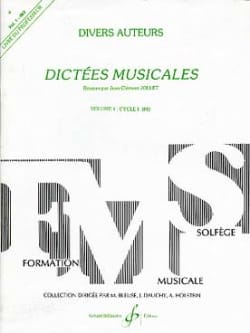 Dictées Musicales Volume 1 - Prof. Jean-Clément Jollet laflutedepan