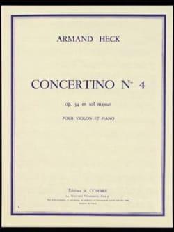 Concertino n° 4 op. 34 en sol majeur J. Armand Heck laflutedepan