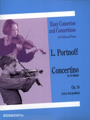 Concertino in A minor op. 14 Leo Portnoff Partition laflutedepan