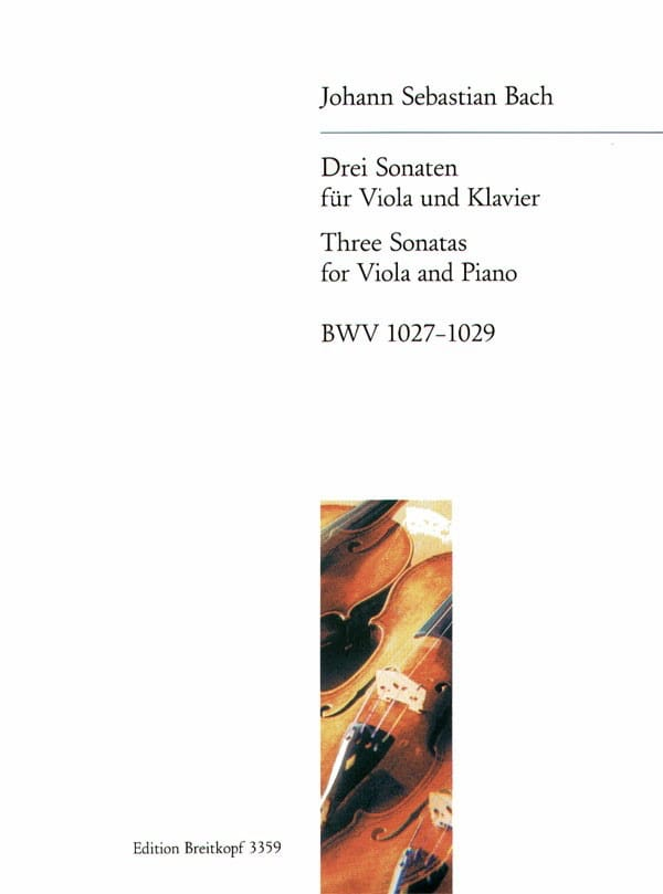 3 Sonaten - BWV 1027-1029 - BACH - Partition - Alto - laflutedepan.com