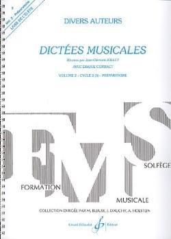 Dictées musicales - Volume 2 - Elève Jean Clément Jollet laflutedepan