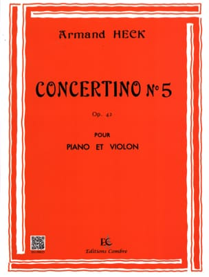 Concertino n° 5 op. 42 - J. Armand Heck - Partition - laflutedepan.com