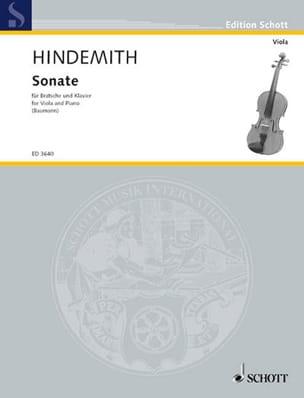 Sonate 1939 - Bratsche Klavier HINDEMITH Partition Alto - laflutedepan