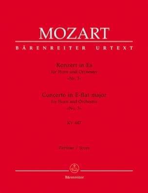 Concerto pour Cor N° 3 - Conducteur MOZART Partition laflutedepan