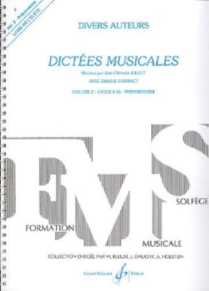 Dictées musicales - Volume 2 - Elève - laflutedepan.com