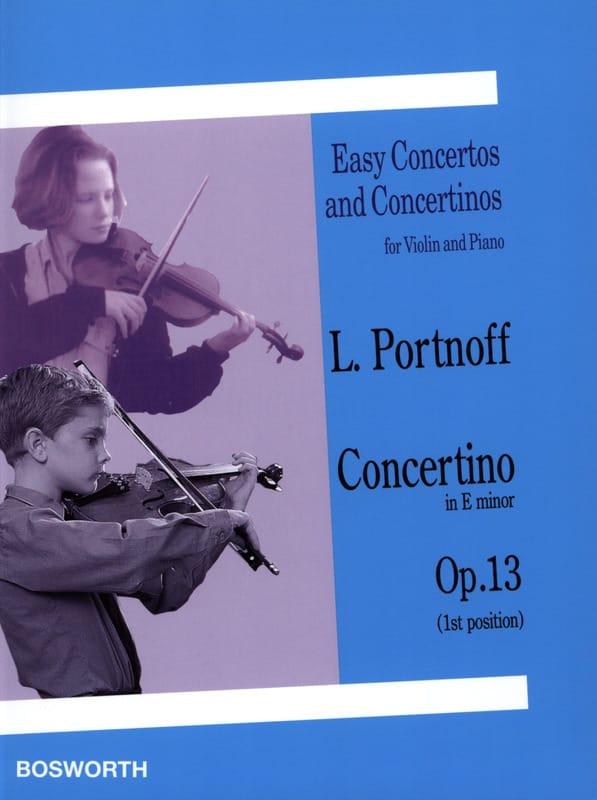 Concertino in E minor op. 13 - Leo Portnoff - laflutedepan.com
