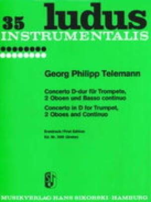 Concerto D-Dur -Trompete 2 Oboen u. BC - TELEMANN - laflutedepan.com