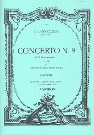 Concerto n° 9 Cello, si bem. maggiore G. 482 - laflutedepan.com