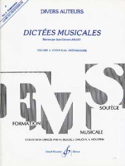 Dictées Musicales Volume 2 - Prof Jean-Clément Jollet laflutedepan