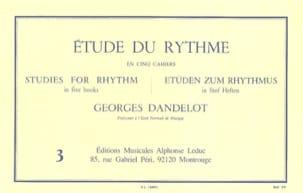 DANDELOT - Study of the Rhythm Volume 3 - Partition - di-arezzo.co.uk