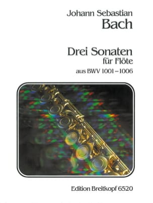 3 Sonaten aus BWV 1001-06 -Flöte solo BACH Partition laflutedepan