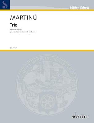 Trio - 5 Pièces brèves MARTINU Partition Trios - laflutedepan
