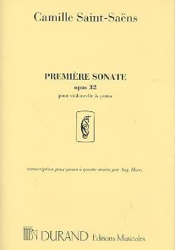 Sonate n° 1 op. 32 SAINT-SAËNS Partition Violoncelle - laflutedepan