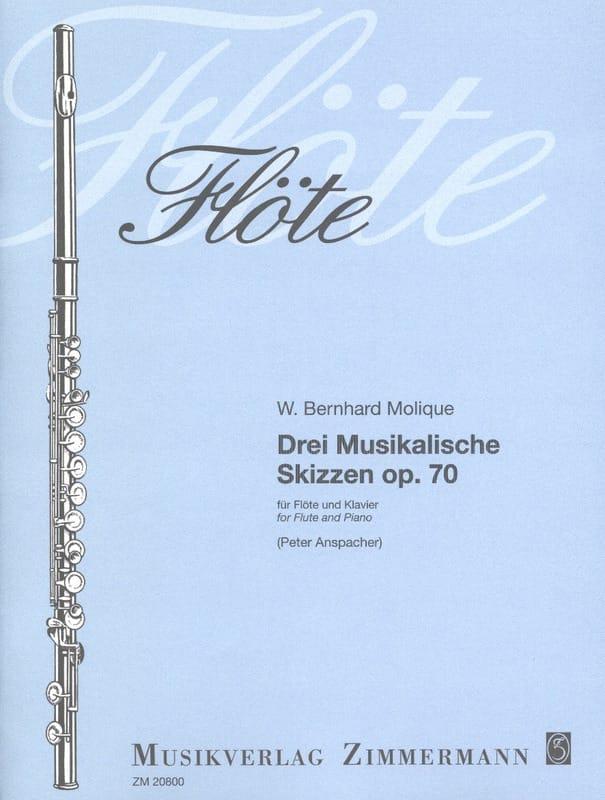 3 Musikalische Skizzen Op. 70 - W. Bernhard Molique - laflutedepan.com