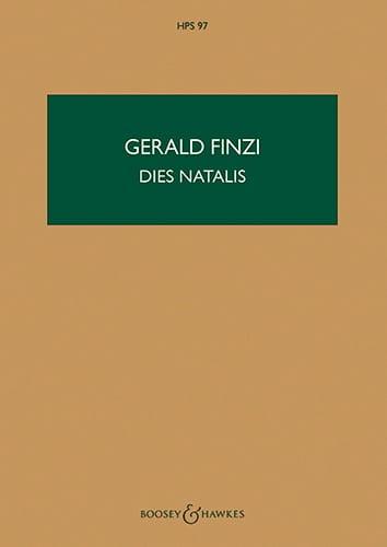 Dies Natalis - Gerald Finzi - Partition - laflutedepan.com