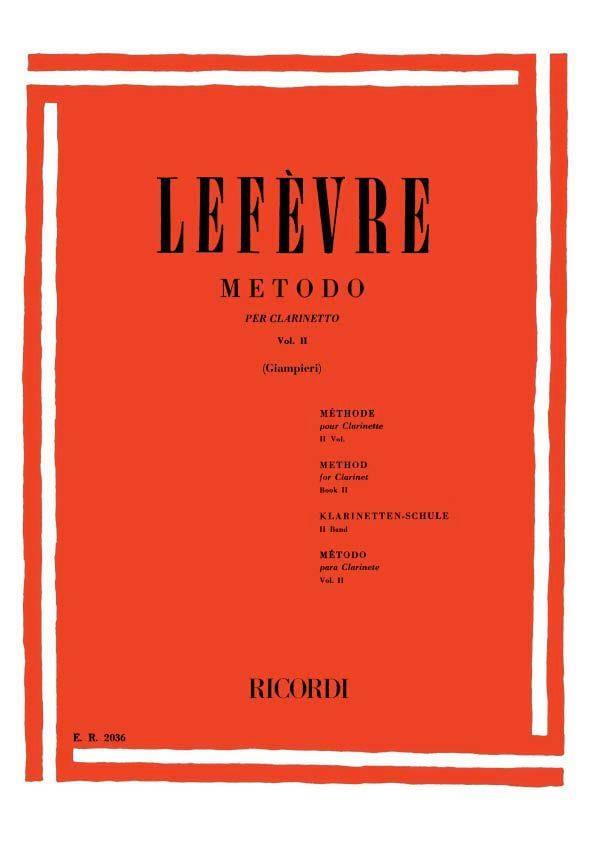 Metodo per Clarinetto - 2 - Jean Xavier Lefèvre - laflutedepan.com