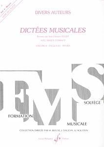 Dictées musicales - Volume 4 - Elève Jean Clément Jollet laflutedepan
