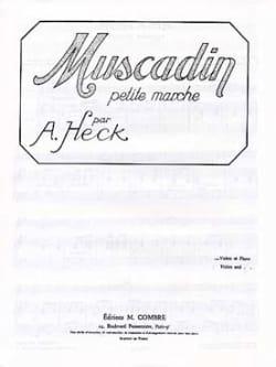 Muscadin op. 28 J. Armand Heck Partition Violon - laflutedepan