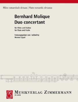 Duo concertante - Wilhelm B Molique - Partition - laflutedepan.com