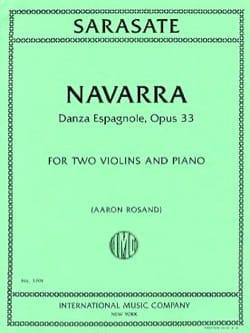 Navarra, opus 33 SARASATE Partition Trios - laflutedepan